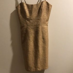 Gold cocktail dress by Milly